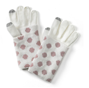 Polka Dot Touch Gloves