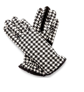 Houndstooth Gloves Texting