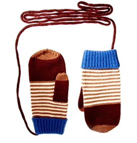 Touch Screen Striped Mittens - ASOS