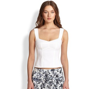 A Senorita Top, with strong Straps holds your bist while still hightlighting your beautiful décolletage ( Top: Nanette Lepore, $198)